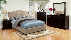 Gastin Contemporary Tufted Camelback Cal. King Bed