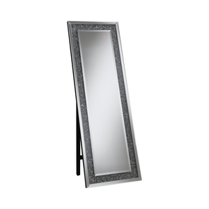 Rectangular Standing Mirror With LED Lighting Silver by Coaster