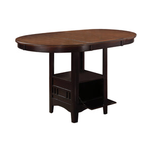 Lavon Oval Counter Height Table Light Chestnut And Espresso By Coaster