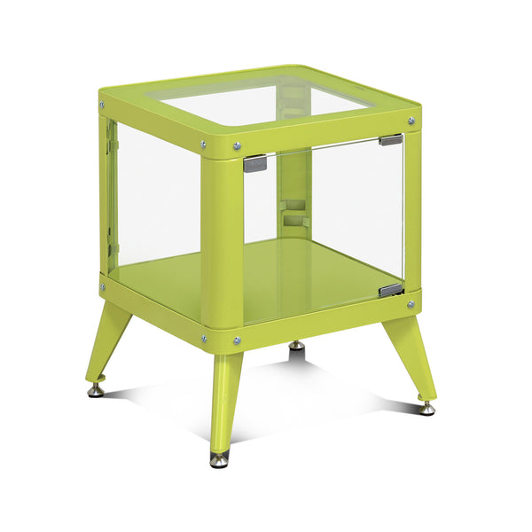 Wallie Contemporary Style Metal Cabinet In Apple Green