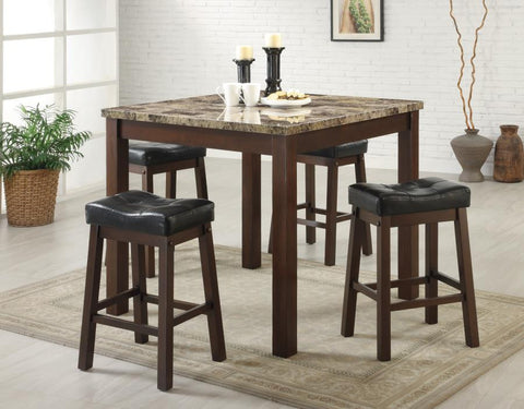 5-Piece Counter Height Table Set by Coaster - HD Furniture