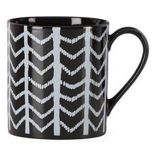 Around the Table Black Chevron Mug by Lenox - HD Furniture