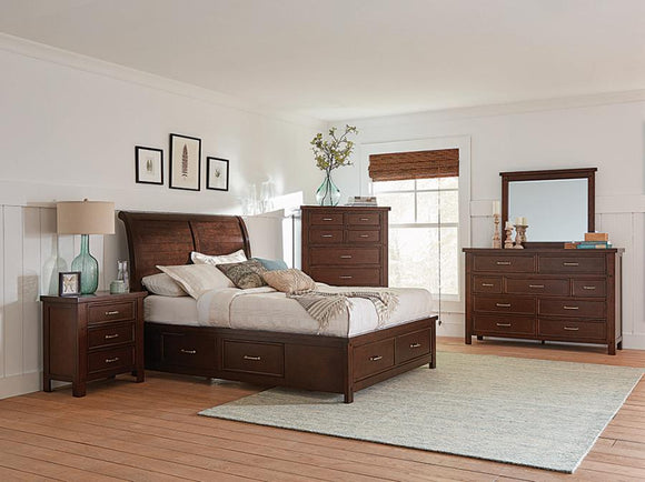 Barstow Storage Bedroom Set Pinot Noir By Coaster - HD Furniture