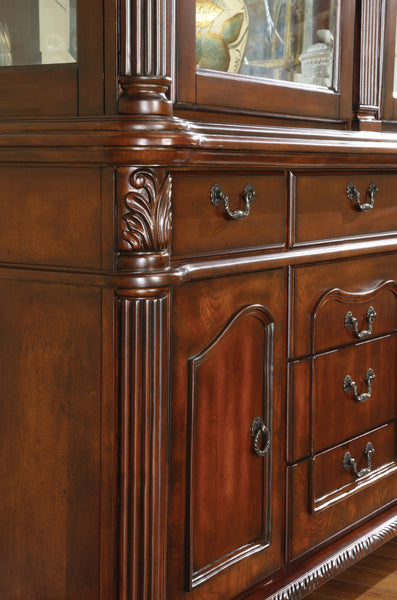 Claris Traditional Hutch and Buffet - HD Furniture