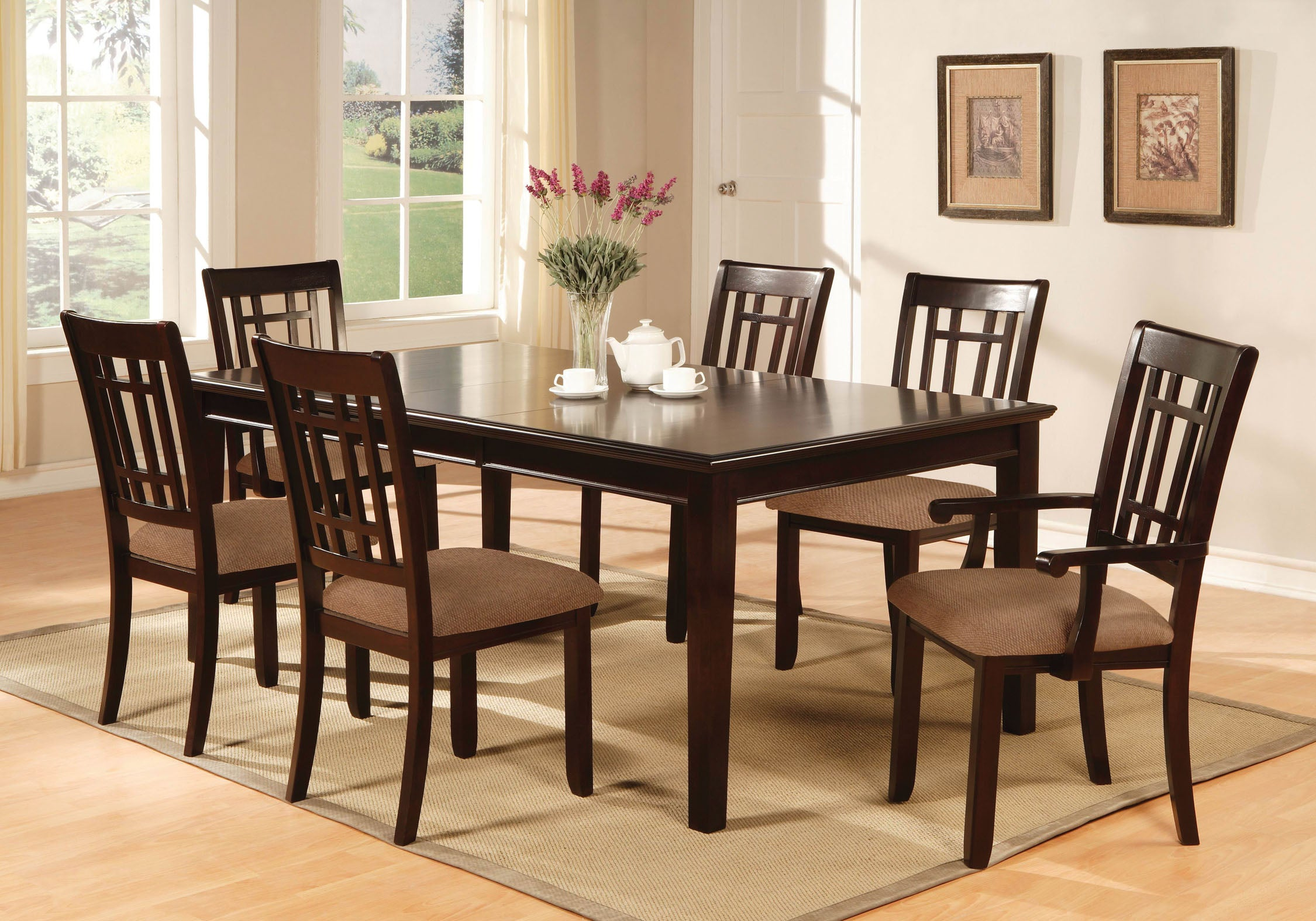Elissa Transitional Dining Table with Leaf
