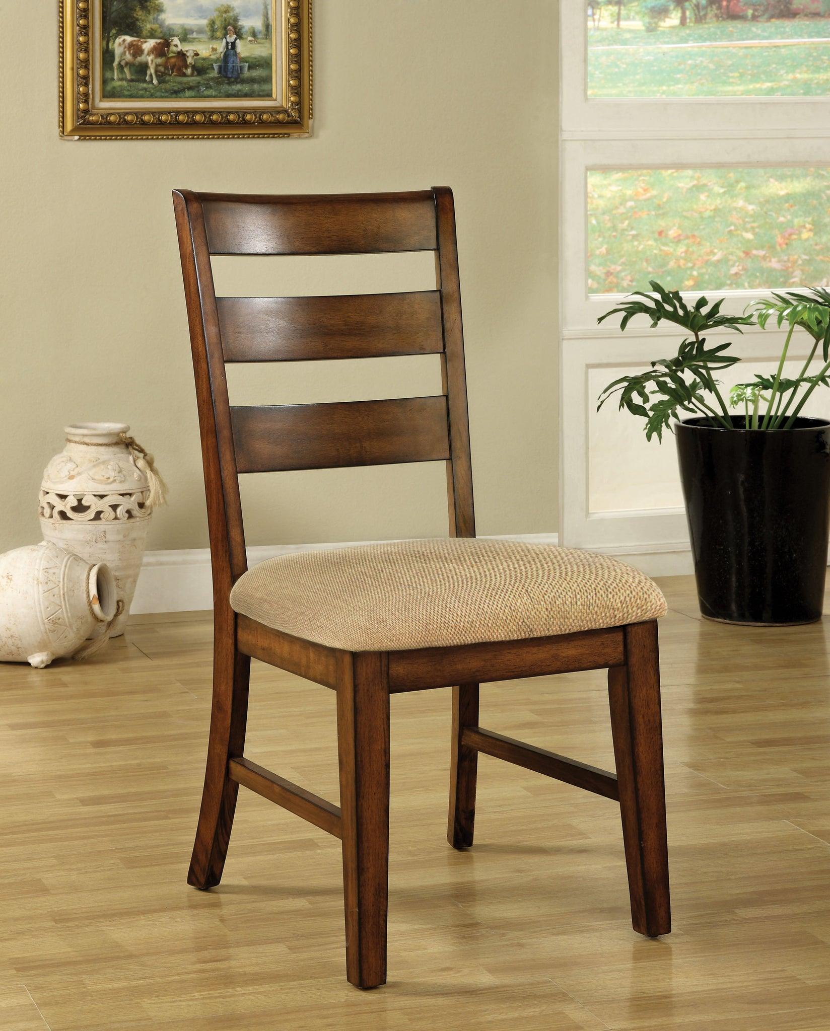 Mona Transitional Side Chair