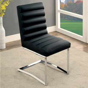 Minka Contemporary Side Chair, Black
