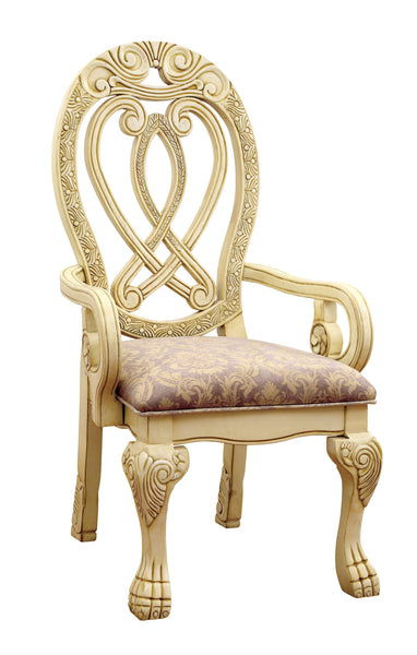 Rembra Traditional Arm Chair, White