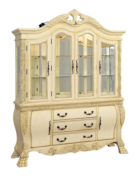 Rembrah Traditional Hutch and Buffet, White