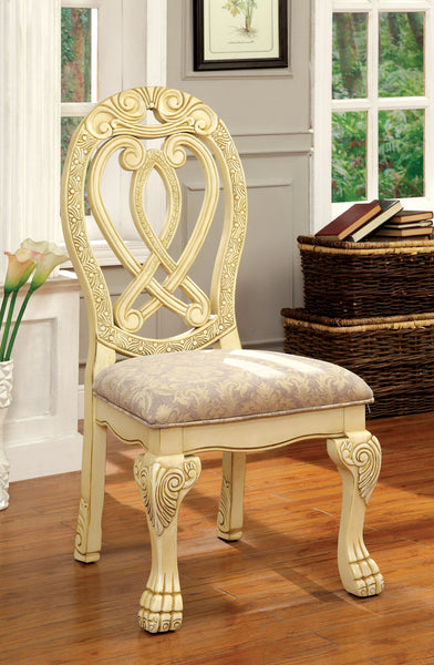 Rembrah Traditional Side Chair, White