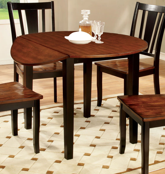 Cassy Transitional Round Dining Table, Black - HD Furniture