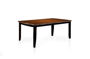 Cassy Transitional Dining Table, Black