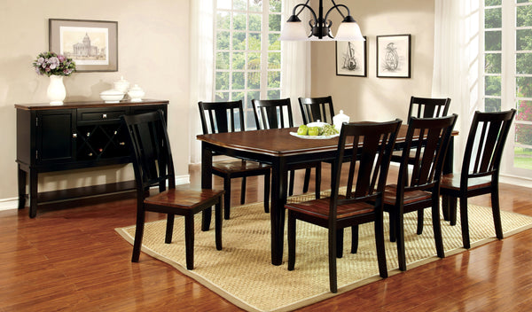 Cassy Transitional Dining Table, Black - HD Furniture
