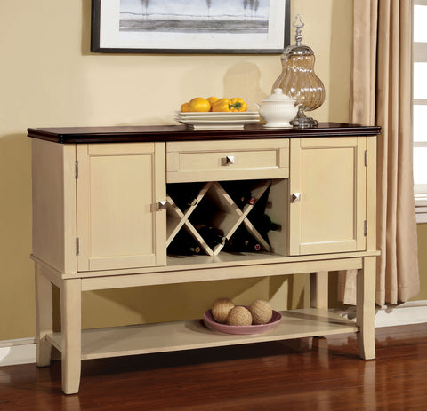 Cassy Transitional Server, Vintage White - HD Furniture