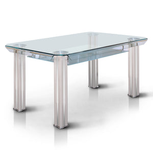 James Contemporary Dining Table, White