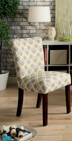 Deirdre Contemporary Accent Chair, Yellow