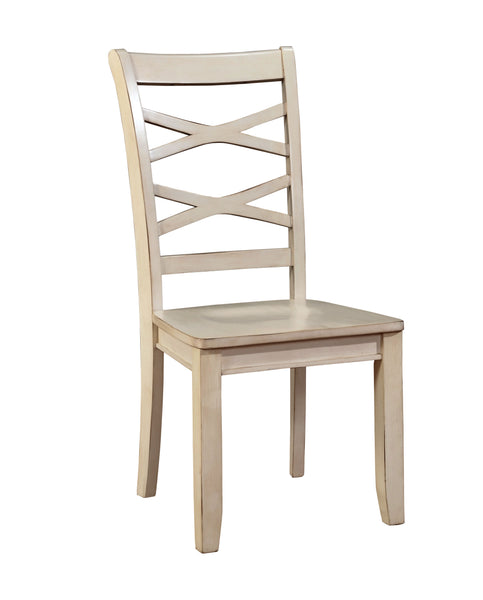 Moodie Transitional Side Chair, White