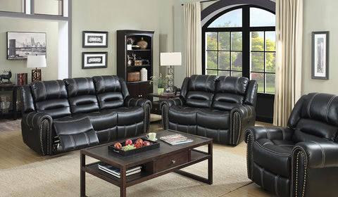 Phoebe Transitional Breathable Leatherette Power Assisted Recliner Chair, Black