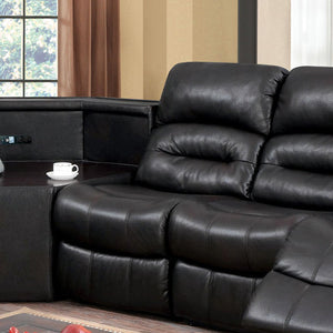 Jackie Transitional Breathable Leather Sectional Chair Addition, Dark Brown