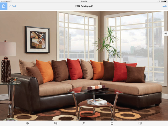 Mila Sectional by HD Furniture