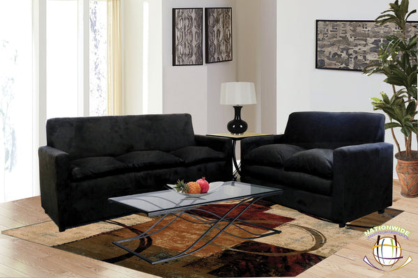 Dorm Collection Sofa and Loveseat  by HD Furniture