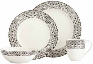 Around the Table Dot 12-piece Dinnerware Set by Lenox - HD Furniture