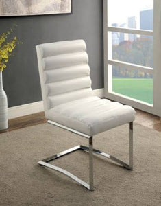 Minka Contemporary Side Chair, White