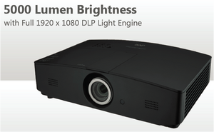 JVC Procision LX-FH50 1080P DLP Front Projector w/5000 Lumen Brightness & Full 1920x1080 DLP Light Engine