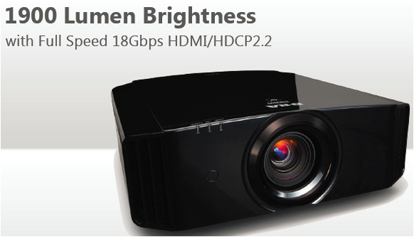 JVC Procision DLA-X770R 4K e-shift4 D-ILA Front Projector 1900 Lumen Brightness w/Full Speed 18Gbps HDMI/HDCP2.2