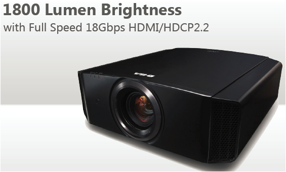 JVC Procision DLA-X570R 4K e-shift4 D-ILA Front Projector 1800 Lumen Brightness w/Full Speed 18Gbps HDMI/HDCP2.2