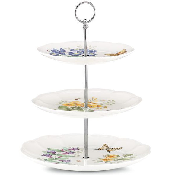 Butterfly Meadow® Bouquet 3-tiered Server by Lenox - HD Furniture