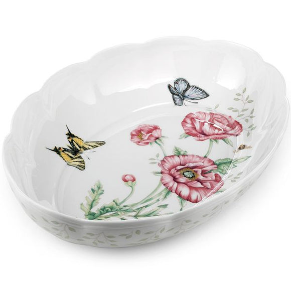 Butterfly Meadow® Oval Baker by Lenox