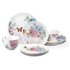 Butterfly Meadow® Hydrangea 12-piece Dinnerware Set by Lenox