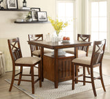 Adriana Transitional Counter Height Table - HD Furniture