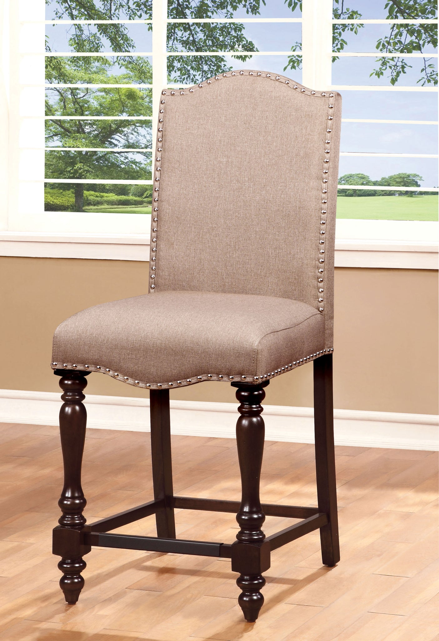 Rhonda Transitional Counter Height Chair