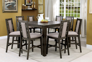 Anton Transitional 9-Piece Counter Height Table Set - HD Furniture