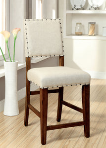 Hallie Contemporary Counter Height Chair, Natural Tone