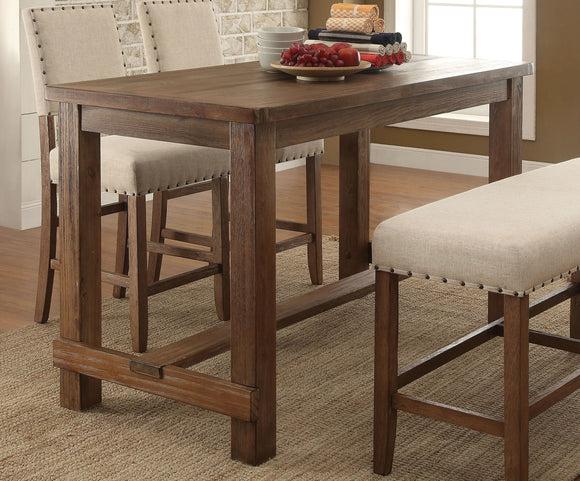Hallie Contemporary Counter Height Table, Natural Tone