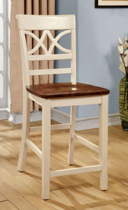 Eleita Cottage Counter Height Chair, Oak and Vintage White