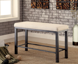 Bella Industrial Counter Height Bench - HD Furniture