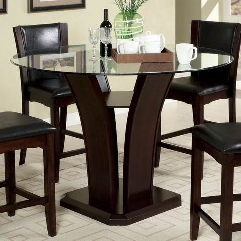 Gretch Contemporary Counter Height Table, Dark Cherry