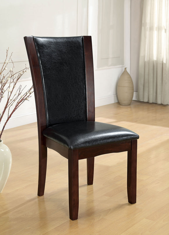 Kaci Contemporary Side Chair, Black