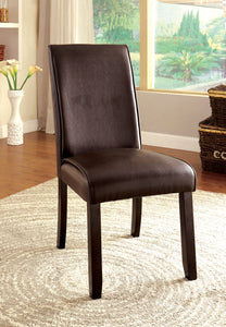 Roweena Contemporary Side Chair, Dark Walnut
