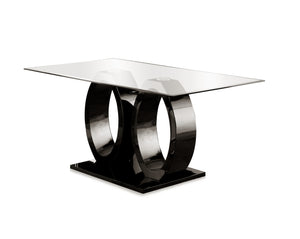 Orten Contemporary Dining Table, Black