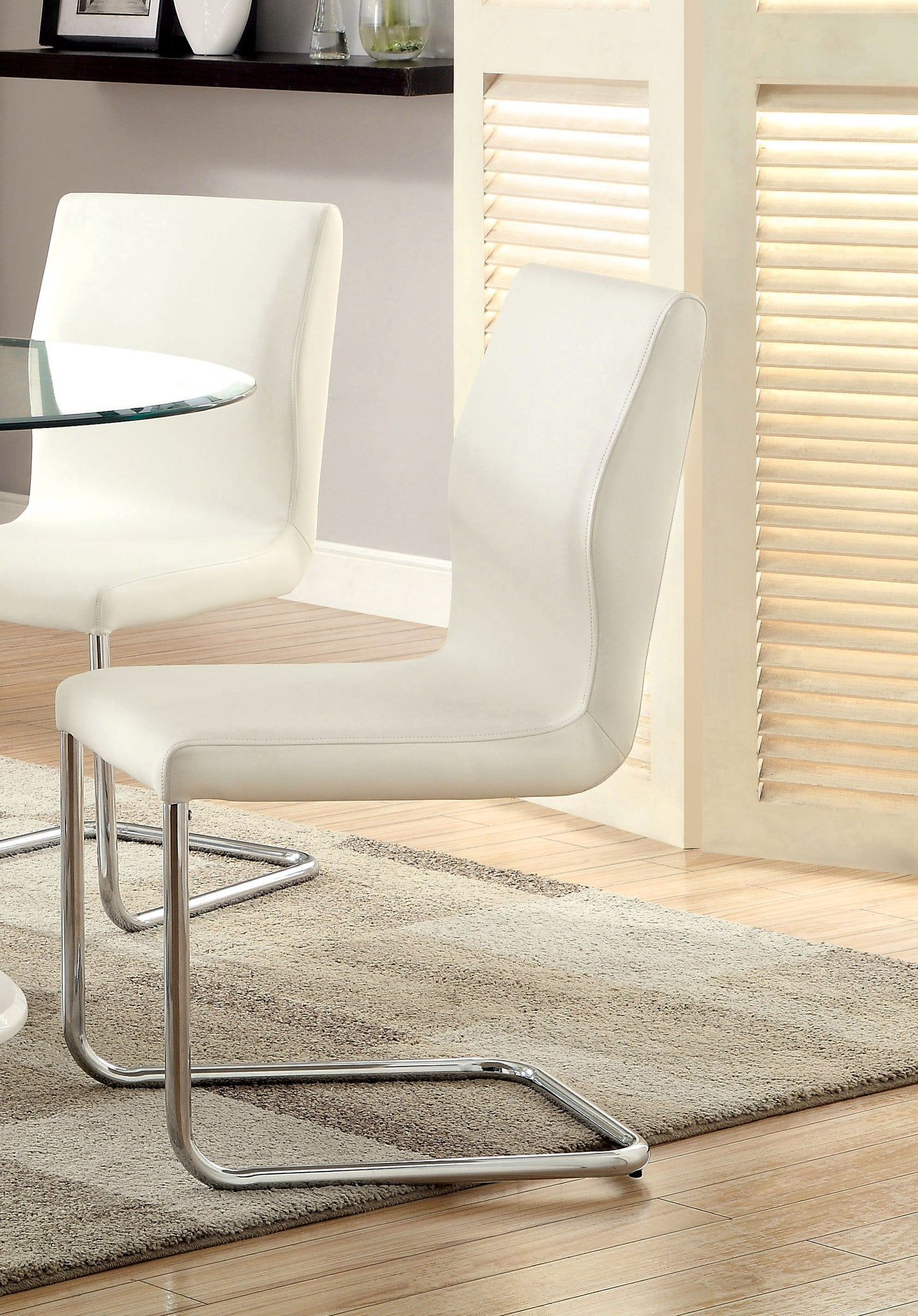 Orten Contemporary Side Chair, White