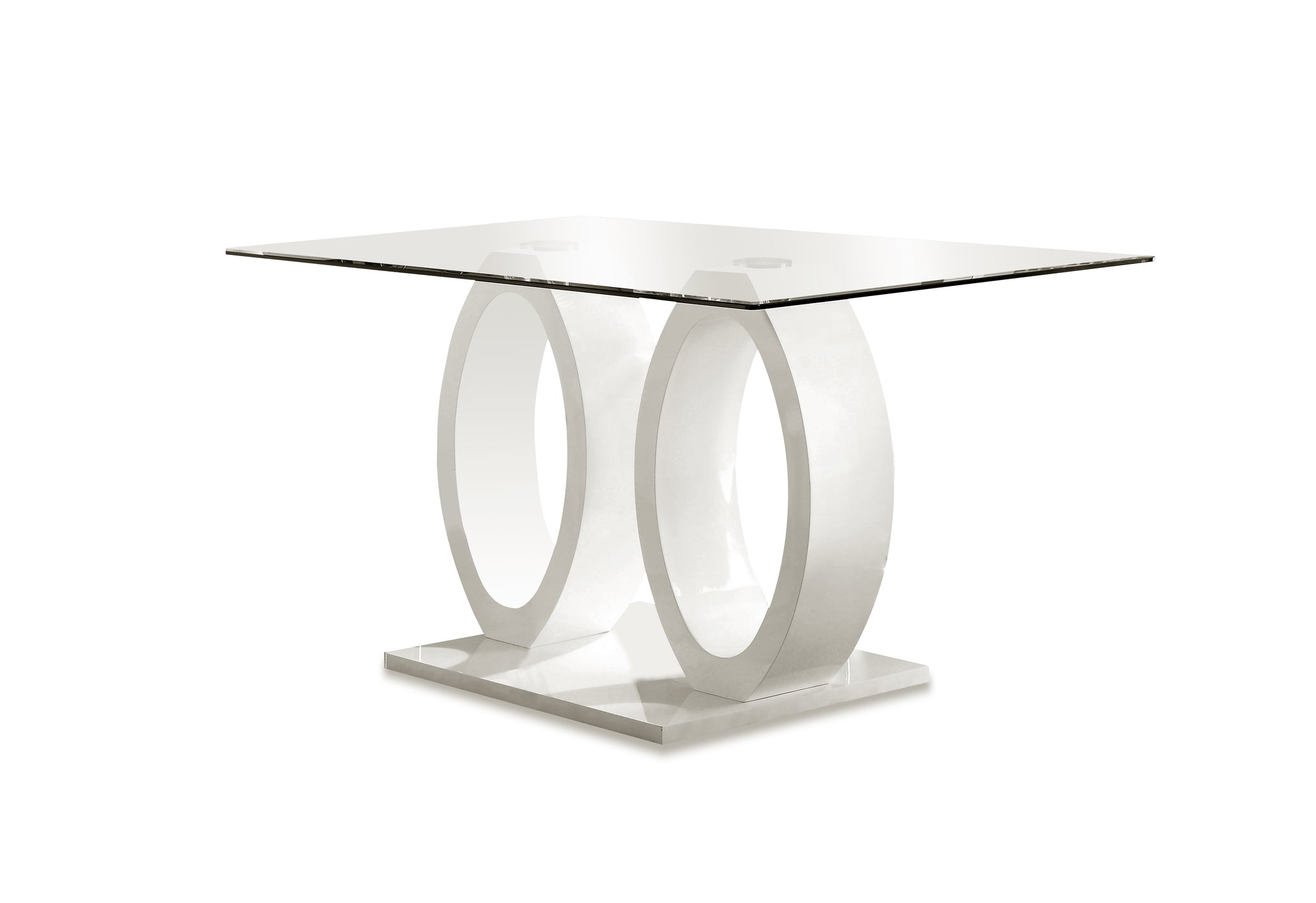 Orten Contemporary Dining Table, White