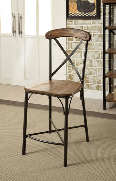 Nicolas Industrial Counter Height Chair