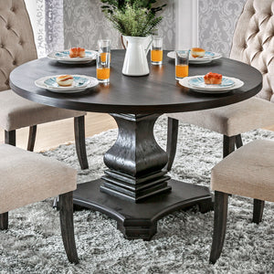 Amarah Transitional Round Dining Table - HD Furniture