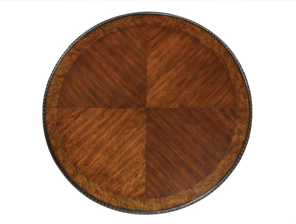 Myranda Traditional Round Dining Table, Antique Cherry