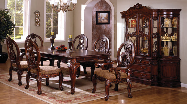 Myranda Traditional Dining Table, Antique Cherry